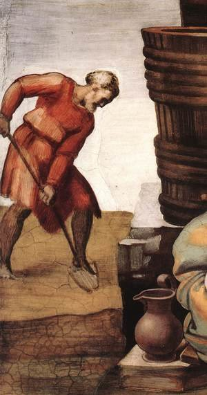Reproduction oil paintings - Michelangelo - Drunkenness of Noah (detail-1) 1509