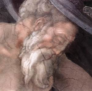 Reproduction oil paintings - Michelangelo - Drunkenness of Noah (detail-3) 1509