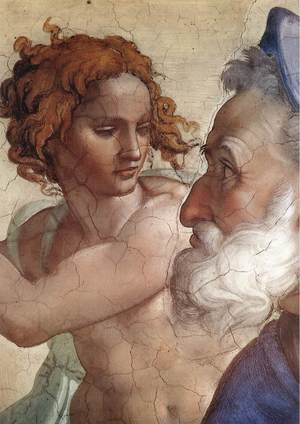 Reproduction oil paintings - Michelangelo - Ezekiel (detail-2) 1510