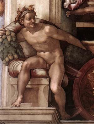 Reproduction oil paintings - Michelangelo - Ignudo -7  1509