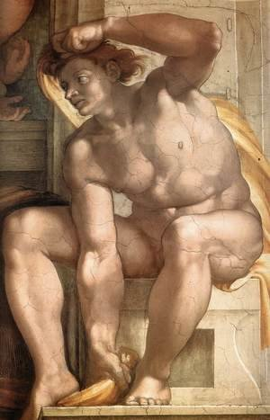 Reproduction oil paintings - Michelangelo - Ignudo -9  1509
