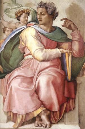Reproduction oil paintings - Michelangelo - Isaiah (detail-1) 1509