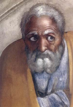 Reproduction oil paintings - Michelangelo - Jacob - Joseph (detail-1) 1511-12