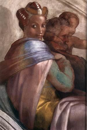Reproduction oil paintings - Michelangelo - Jacob - Joseph (detail-3) 1511-12