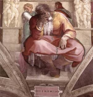 Reproduction oil paintings - Michelangelo - Jeremiah 1511