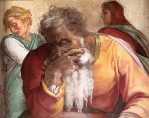 Reproduction oil paintings - Michelangelo - Jeremiah (detail-1) 1511