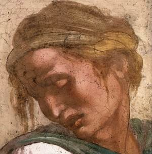 Reproduction oil paintings - Michelangelo - Jeremiah (detail-2) 1511