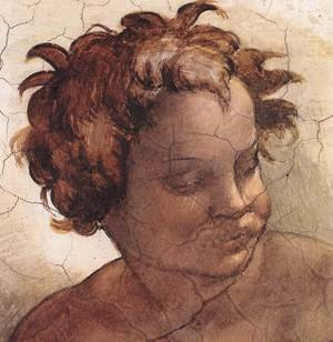 Reproduction oil paintings - Michelangelo - Joel (detail-2) 1509