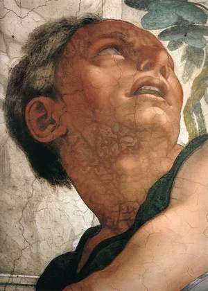 Reproduction oil paintings - Michelangelo - Jonah (detail-1) 1511