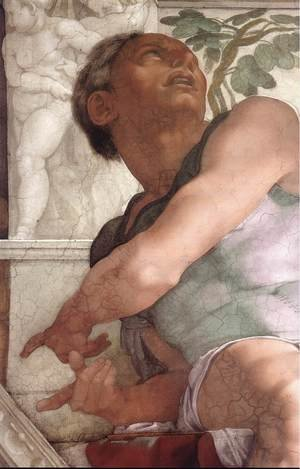 Reproduction oil paintings - Michelangelo - Jonah (detail-2) 1511