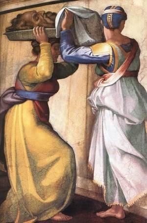 Reproduction oil paintings - Michelangelo - Judith and Holofernes (detail-1) 1509