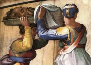 Reproduction oil paintings - Michelangelo - Judith and Holofernes (detail-2) 1509