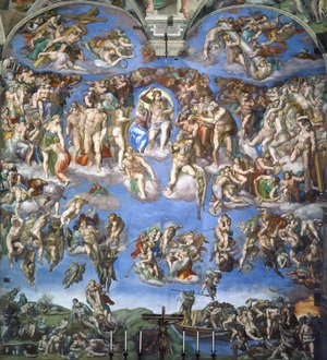 Renaissance - High painting reproductions: Last Judgment (1) 1537-41