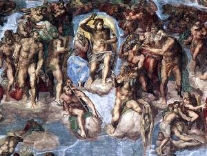 Reproduction oil paintings - Michelangelo - Last Judgment (detail-1) 1537-41