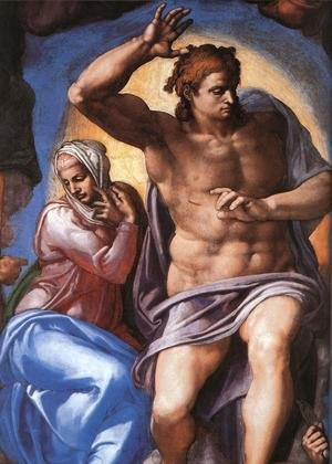Reproduction oil paintings - Michelangelo - Last Judgment (detail-2) 1537-41