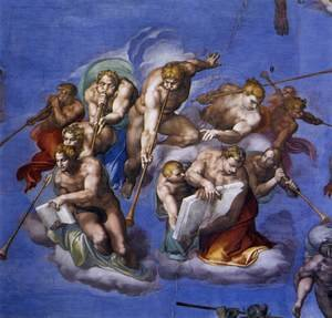 Reproduction oil paintings - Michelangelo - Last Judgment (detail-5) 1537-41