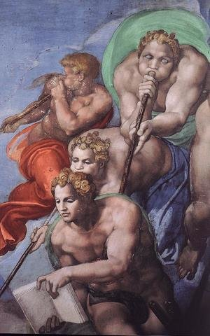 Reproduction oil paintings - Michelangelo - Last Judgment (detail-6) 1537-41