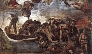 Reproduction oil paintings - Michelangelo - Last Judgment (detail-7) 1537-41