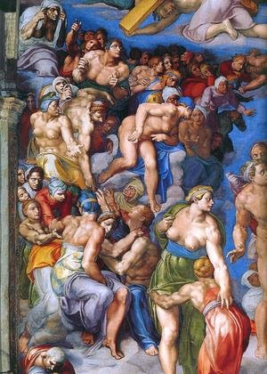 Last Judgment (detail-12) 1537-41