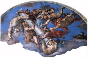 Reproduction oil paintings - Michelangelo - Last Judgment (detail-17) 1537-41
