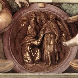 Reproduction oil paintings - Michelangelo - Medallion (5) 1511