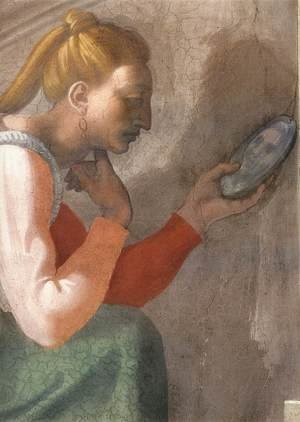 Reproduction oil paintings - Michelangelo - Nahshon (detail-1) 1511-12