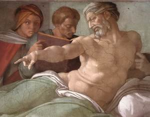Reproduction oil paintings - Michelangelo - Punishment of Haman (detail-2) 1511