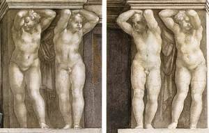 Reproduction oil paintings - Michelangelo - Putti  1511