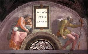 Reproduction oil paintings - Michelangelo - Salmon - Boaz - Obed 1511-12