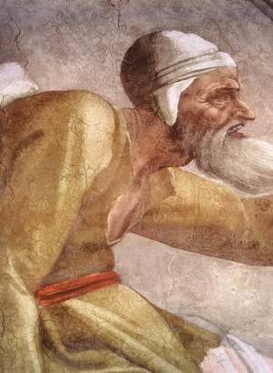 Reproduction oil paintings - Michelangelo - Salmon - Boaz - Obed (detail-2) 1511-12