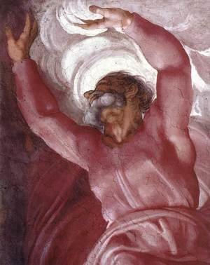 Reproduction oil paintings - Michelangelo - Separation of Light from Darkness (detail) 1511