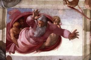 Reproduction oil paintings - Michelangelo - Separation of the Earth from the Waters 1511
