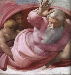 Reproduction oil paintings - Michelangelo - Separation of the Earth from the Waters (detail) 1511