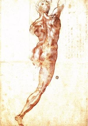 Reproduction oil paintings - Michelangelo - Study for a Nude 1504