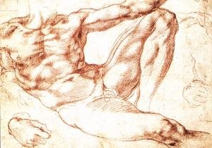 Reproduction oil paintings - Michelangelo - Study for Adam c. 1510