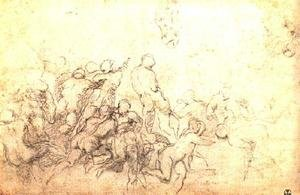 Reproduction oil paintings - Michelangelo - Study for the Battle of Cascina 1505-06