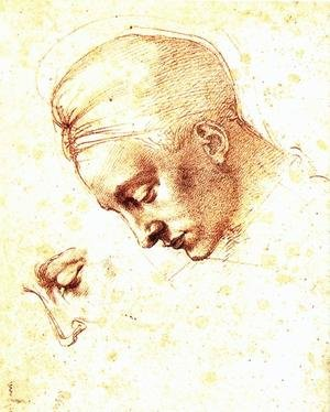 Reproduction oil paintings - Michelangelo - Study of a Head c. 1530