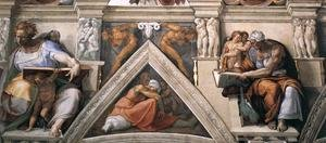Reproduction oil paintings - Michelangelo - The ceiling (detail-3) 1508-12