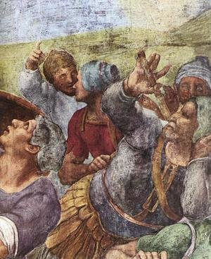 Reproduction oil paintings - Michelangelo - The Conversion of Saul (detail-2) 1542-45