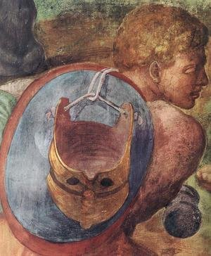 Reproduction oil paintings - Michelangelo - The Conversion of Saul (detail-3) 1542-45