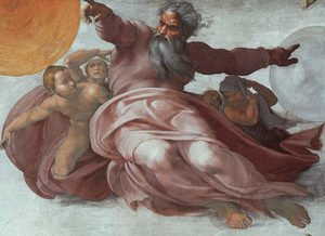 Reproduction oil paintings - Michelangelo - The Creation of the Heavens (detail)  1508-12