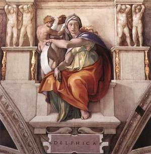 Reproduction oil paintings - Michelangelo - The Delphic Sibyl 1509