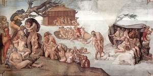 Reproduction oil paintings - Michelangelo - The Deluge 1508-09