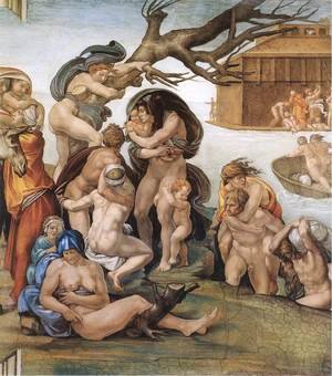 Reproduction oil paintings - Michelangelo - The Deluge (detail-1) 1508-09