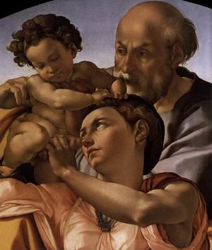 Reproduction oil paintings - Michelangelo - The Doni Tondo (detail) c. 1506