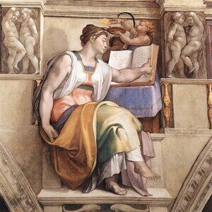 Reproduction oil paintings - Michelangelo - The Erythraean Sibyl 1509