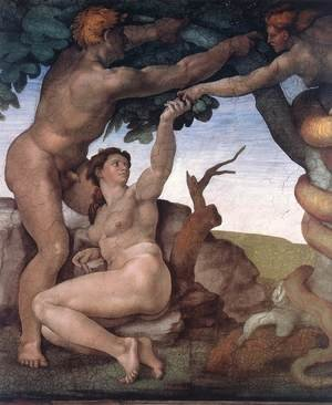 Reproduction oil paintings - Michelangelo - The Fall -1 1509-10