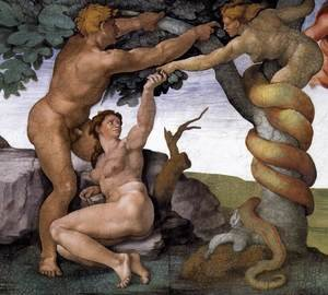 Reproduction oil paintings - Michelangelo - The Fall -2 1509-10