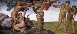 Reproduction oil paintings - Michelangelo - The Fall and Expulsion from Garden of Eden 1509-10