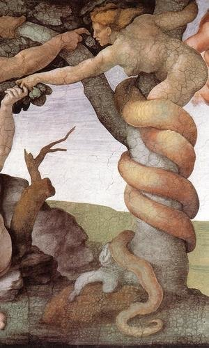Reproduction oil paintings - Michelangelo - The Fall and Expulsion from Garden of Eden (detail-2) 1509-10